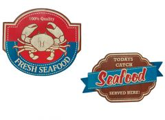 Seafood - Set van 2 Signs