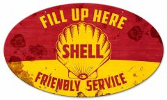 Shell - friendly service - oval