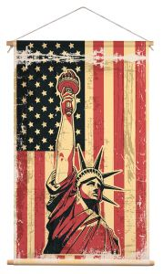 Wanddoek - USA Flag Liberty