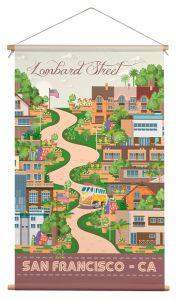 Wanddoek - Lombard Street San Francisco