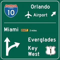 Traffic Road Sign - Florida