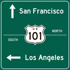 Traffic Road Sign - San Francisco + Los Angeles