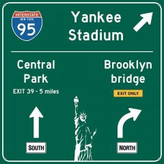 Traffic Road Sign - New York