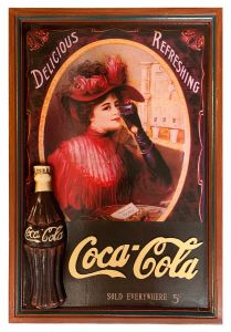Coca-Cola - wood - Sold Everywhere Lady
