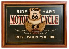 Route 66 - Wood - Motor Cycle
