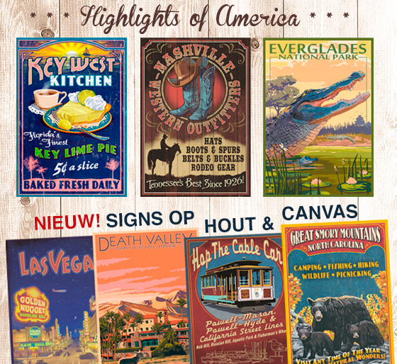 Signs - hout wood canvas